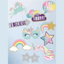 Unicorn Rainbow Photo Booth Party Props