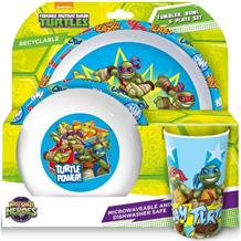 TMN Turtles Tumbler | Bowl | Plate Mealtime Set
