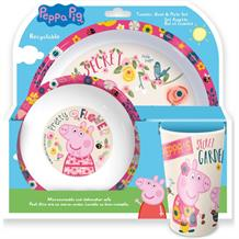 Peppa Pig Back to Nature Mealtime Tumbler | Bowl | Plate Set