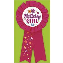 Birthday Girl Pink Award Ribbon Favour