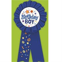Birthday Boy Blue Award Ribbon Favour
