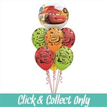 Disney Cars Inflated 7 Balloon Bubble Bouquet