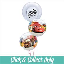 Disney Cars 3 Bubble Inflated Balloon Bouquet