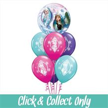 Disney Frozen Inflated 7 Balloon Bubble Bouquet