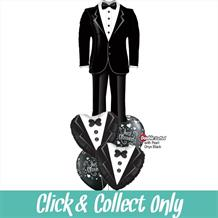 Groom | Wedding Suit Large Inflated 5 Balloon Bouquet