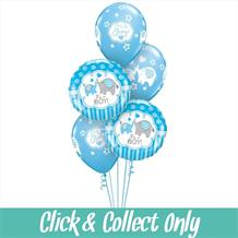 It's a Boy Elephant Baby Shower Inflated 5 Balloon Bouquet