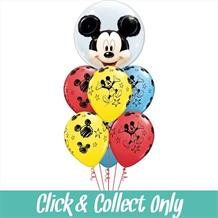 Mickey Mouse Inflated 7 Balloon Double Bubble Bouquet