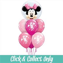 Minnie Mouse Inflated 7 Balloon Double Bubble Bouquet