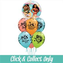 Disney Moana Inflated 7 Balloon Bubble Bouquet