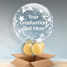 Personalisable Inflated Stars | Graduation Bubble Balloon in a Box