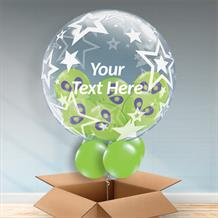 Personalisable Inflated Stars | Space | Alien Balloon Filled Bubble Balloon in a Box