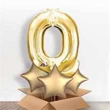 Personalisable Gold Giant Letter Q Balloon in a Box Gift