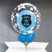 Personalisable Inflated Police Dept | Stars Balloon Filled Bubble Balloon in a Box