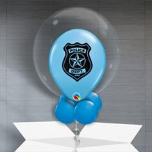 Personalisable Inflated Police Dept Balloon Filled Bubble Balloon in a Box