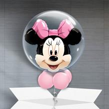 Personalisable Inflated Minnie Mouse | We are Going to Disneyland Bubble Balloon in a Box