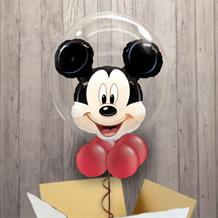 Personalisable Inflated Mickey Mouse | We are Going to Disneyland Bubble Balloon in a Box