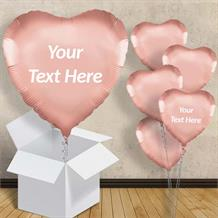 "Rose Gold Heart Shaped 18"" Balloon in a Box"