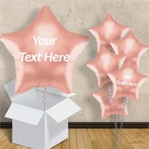 "Rose Gold Star Shaped 18"" Balloon in a Box"