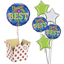 "You're the Best Blue 18"" Balloon in a Box"