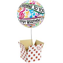 "Happy Birthday Music Notes 22"" Bubble Balloon in a Box"