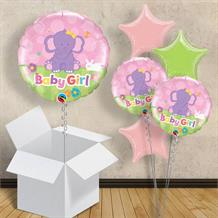 "Baby Girl Pink Elephant | Baby Shower 18"" Balloon in a Box"