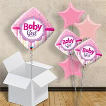 "Baby Girl Pink Diamond | Baby Shower 18"" Balloon in a Box"
