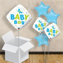 "Baby Boy Dragonfly Diamond | Baby Shower 18"" Balloon in a Box"