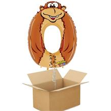 Zooloons Gorilla Giant Number 0 Balloon in a Box Gift