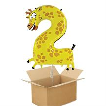 Zooloons Giraffe Giant Number 2 Balloon in a Box Gift