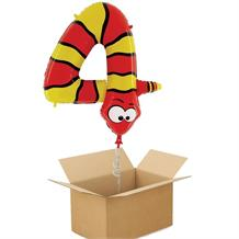 Zooloons Snake Giant Number 4 Balloon in a Box Gift