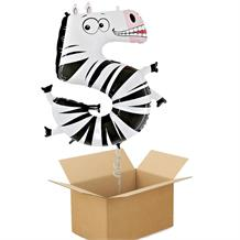 Zooloons Zebra Giant Number 5 Balloon in a Box Gift