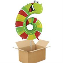 Zooloons Caterpillar Giant Number 6 Balloon in a Box Gift