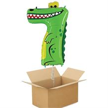 Zooloons Crocodile Giant Number 7 Balloon in a Box Gift