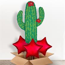 Cactus Desert Giant Shaped Balloon in a Box Gift