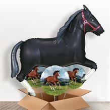 Black Horse Giant Shaped Balloon in a Box Gift
