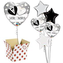 "Mr and Mrs Wedding Heart 18"" Balloon in a Box"