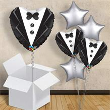 "Wedding | Groom Tuxedo 18"" Balloon in a Box"