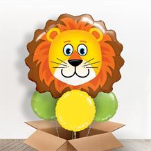 Lion Head Giant Shaped Balloon in a Box Gift