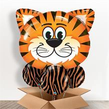 Tiger Head Giant Shaped Balloon in a Box Gift