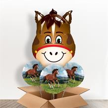 Horse Head Giant Shaped Balloon in a Box Gift