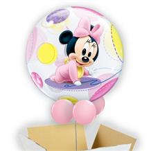 "Baby Minnie Mouse 22"" Bubble Balloon in a Box"