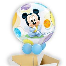 "Baby Mickey Mouse 22"" Bubble Balloon in a Box"