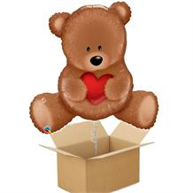 Teddy Bear Love Giant Shaped Balloon in a Box Gift