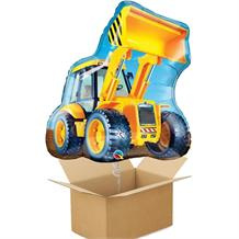 Construction Digger Giant Shaped Balloon in a Box Gift