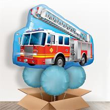 Red Fire Truck | Engine Giant Shaped Balloon in a Box Gift