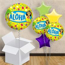 "Aloha Hawaiian Summer 18"" Balloon in a Box"