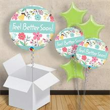 "Feel Better Soon Floral 18"" Balloon in a Box"