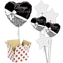 "Always and Forever Heart | Wedding 18"" Balloon in a Box"