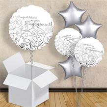 "Congratulations on Your Engagement White 18"" Balloon in a Box"