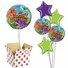 "Happy Birthday Dinosaur 18"" Balloon in a Box (Holographic)"